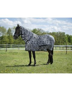 Riding World Vliegen Mesh deken met vast hals zebra