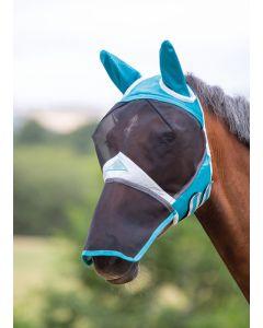 Shires vliegenmasker met oren en neus-Teal-Extra Full