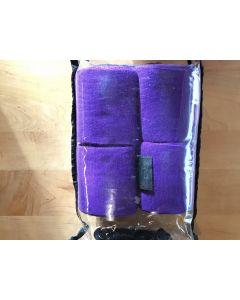 QHP Fleece bandage 4 meter - set van 4 stuks-Paars