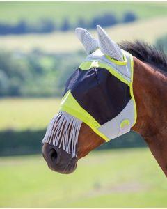 Shires vliegenmasker 3D Mesh en franjes over neus