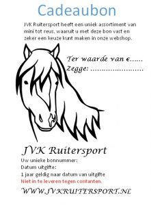 Cadeaubon JVK Ruitersport 10,00 euro