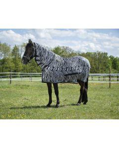 Riding World Vliegen Mesh deken met vast hals zebra